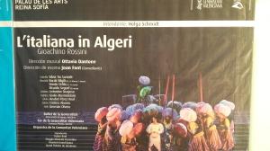 Les Arts: L'Italiana in Algeri - Cartelón exterior @musikalist