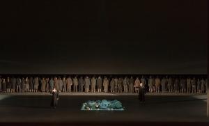 Escena final de la primera y última noche en la cárcel de las carmelitas. dialogues-des-carmelites-production-image-© roh-stephen-cummiskey